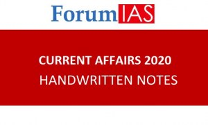 Forum IAS Mains 2020 Current Affairs (Social Issues) Handwritten Notes