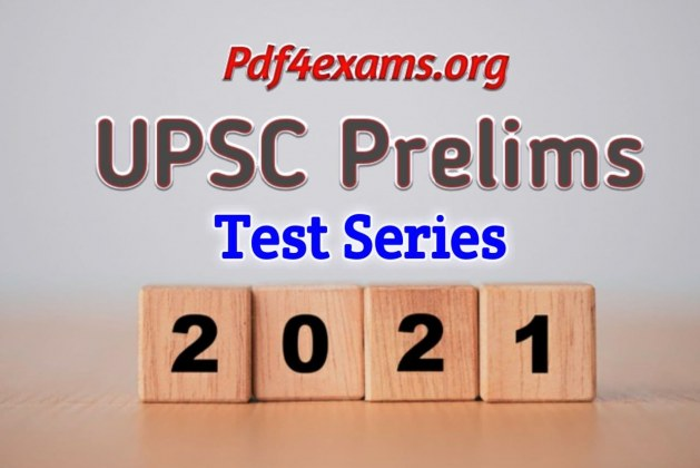 GS SCORE Prelims 2021 All India Open Mock Test 08 PDF